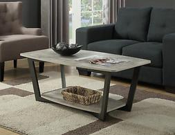 Graystone Coffee Table 111282GY, Faux Birch Finish