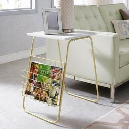 """16"""" Modern Side Table with Magazine Holder"""