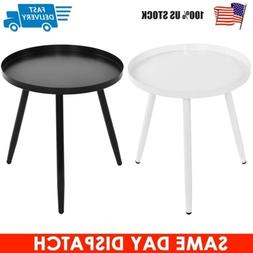"""17"""" Round Side Table End Table Wood Coffee Tea Table Living"""