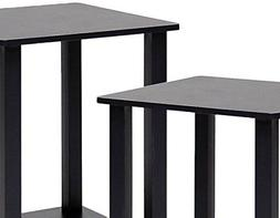 2 Pieces Simplistic End Table Coffee Stand Living Room Home
