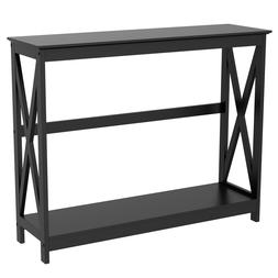 2-Tier X-Design Console Table Sofa Side End Table Accent Tab