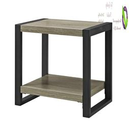 """We Furniture 24"""" Industrial Side/End Table -  Driftwood"""