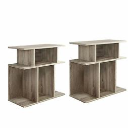 """Monarch Specialties 24"""" Reclaimed Wood Hollow Side Accent Ta"""