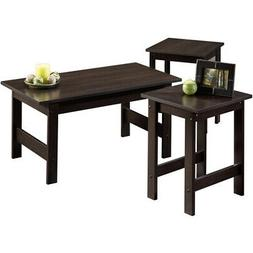 3 piece coffee table set end side
