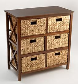 3 Tier X-side Storage Cabinet with 6 Baskets