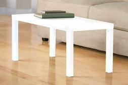 DHP 3537496 Parsons Modern Coffee Table, White
