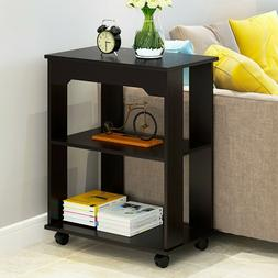 3Tier Modern Sofa End Side Bedside Table Mobile Nightstand S
