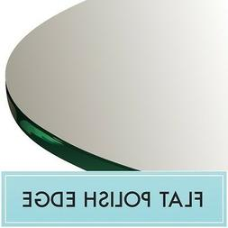 "40"" Inch Clear Round Tempered Glass Table Top 1/4"" thick - F"