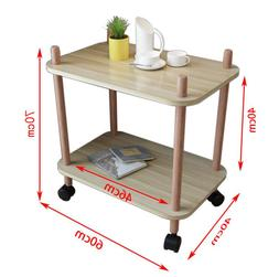 60*40CM Two-layer Kitchen Storage Rack Mobile Dining Car <fo