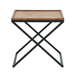 Benzara 85463 Metal Wood Side Table