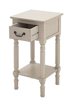 "Deco 79 96334 Wood Side Table, 14"" x 30"", Antique White"