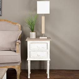 Baxton Studio Anjou Traditional French Accent Nightstand, Me