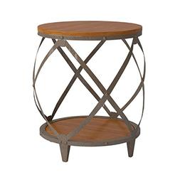 Coaster Home Furnishings Casual Accent Table, Oak and Red Br