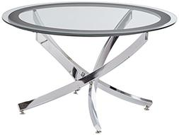 Coaster Occasional Group Contemporary Glass Top Chrome Coffe