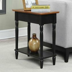 Convenience Concepts French Country Flip Top End Table, Blac