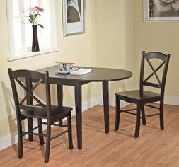 Country Cottage Black Wooden Drop Leaf Dining Room or Kitche