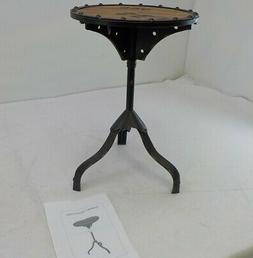 Deco 79 Industrial and Rustic Style Accent Table, Brown