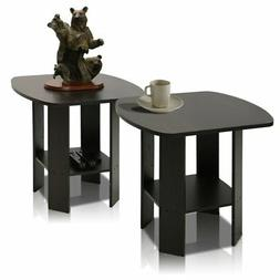 Furinno 2-11180EX Simple Design End Table Set of Two, Epsres