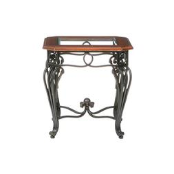 Southern Enterprises Prentice Side End Table, Dark Cherry wi