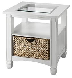 Stein World Furniture Nantucket End Table, Cottage White