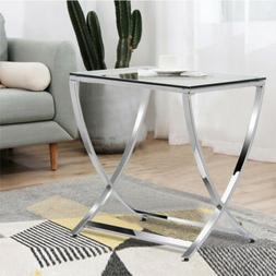 Tempered Glass End Table Side Coffee Sofa Table Nightstand C