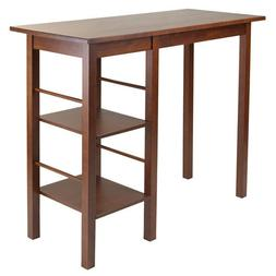 Winsome Wood Egan Breakfast Table with 2 Side Shelves WIN-94