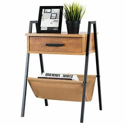 Accent End Side Sofa Table Nightstand Drawer Display Storage
