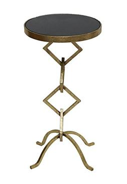 Accent Side End Table for Living Room with Granite Top