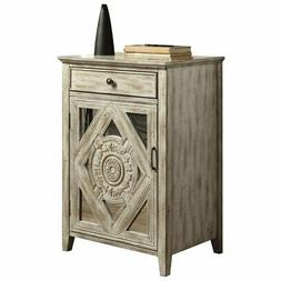 ACME Vinita Side Table in Antique White