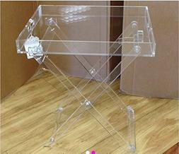 Acrylic Folding Tray Table – Modern Chic Accent Desk - Kit