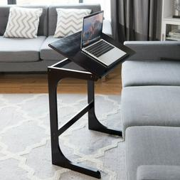 Adjustable C-Shape Sofa Side Table Snack For Living Room End
