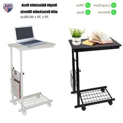 Adjustable Desk Tray Sofa Side End Table Lap Stand TV Snack