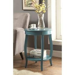 Affiable Side Table, Teal Blue Blue Modern & Contemporary