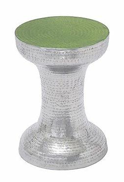 Deco 79 Aluminum Accent Table, 13 by 17-Inch, Green