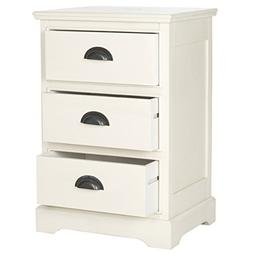 Safavieh American Homes Collection Griffin White 3 Drawer Si