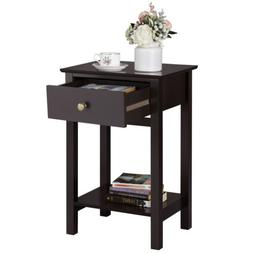 Bedside Table Nightstand End Side Sofa Table with Drawer She