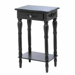 Set of 2 ** BLACK COLONIAL CARVED SIDE, END OR NIGHT TABLES