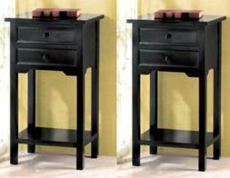 BLACK STAINED SIDE SOFA END TABLE NIGHT STAND NEW~36643