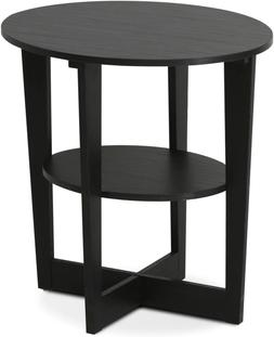 Black Walnut End Table Wedge Oval Coffee Side Night Stand Sm