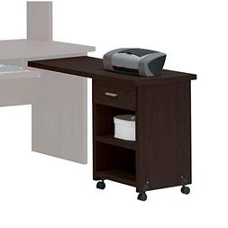 Benzara BM177550 Wooden Computer Side Desk with Drawer and S