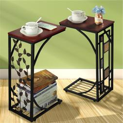 C Small Sofa Side End Table Narrow Snack Couch Table Stand L