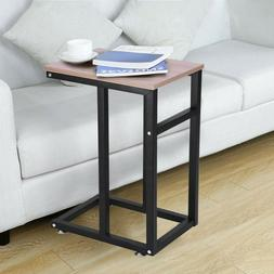 C-Shaped Side Sofa End Table - Snack TV Tray Coffee Table fo