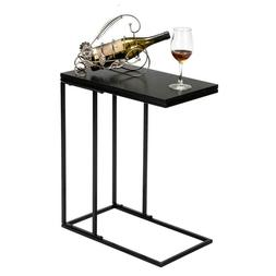 C-shaped Side Sofa Snack Table Coffee Tray End Table Living