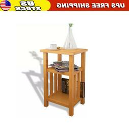 Chair Side Table Narrow End Table with Magazine Shelf Chairs