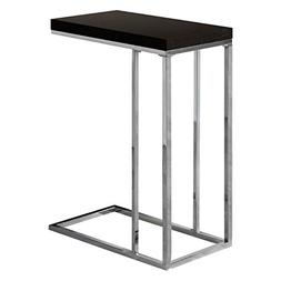 Classic Style Cappuccino Hollow-Core Chrome Metal Table Home