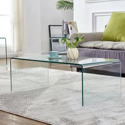 Tempered Glass Coffee Table Accent End/Side/Cocktail Table L