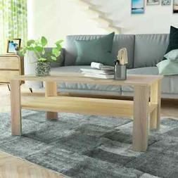 vidaXL Coffee Table Chipboard Color Oak Couch End Side Table