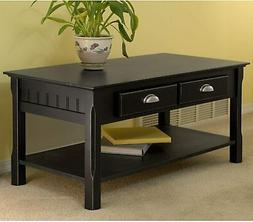 Coffee Table w/ 2 Drawers Storage Living room End Side Sofa