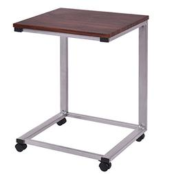 TANGKULA Coffee Tray Sofa Side End Table Laptop Stand Over B
