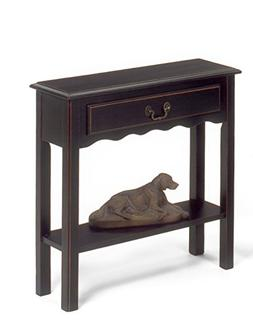 Small Console Table   Skinny Compact   Narrow for Entryway  